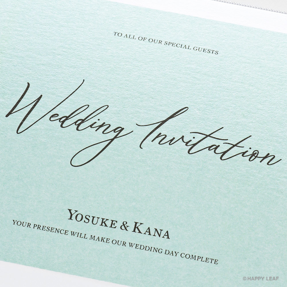 結婚式 招待状 Terrific ミント 3