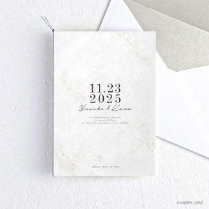 結婚式 招待状 Vows ホワイト