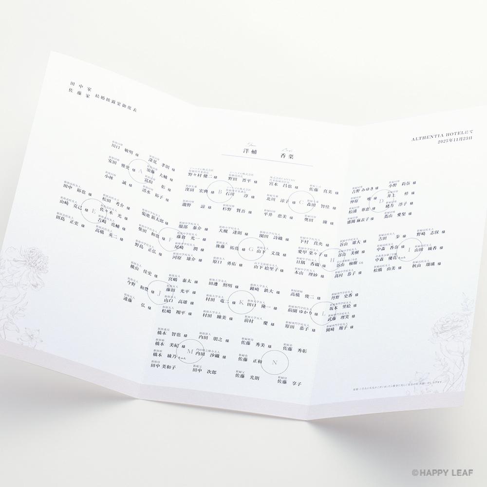 席次表 aria ホワイト -signature- 3