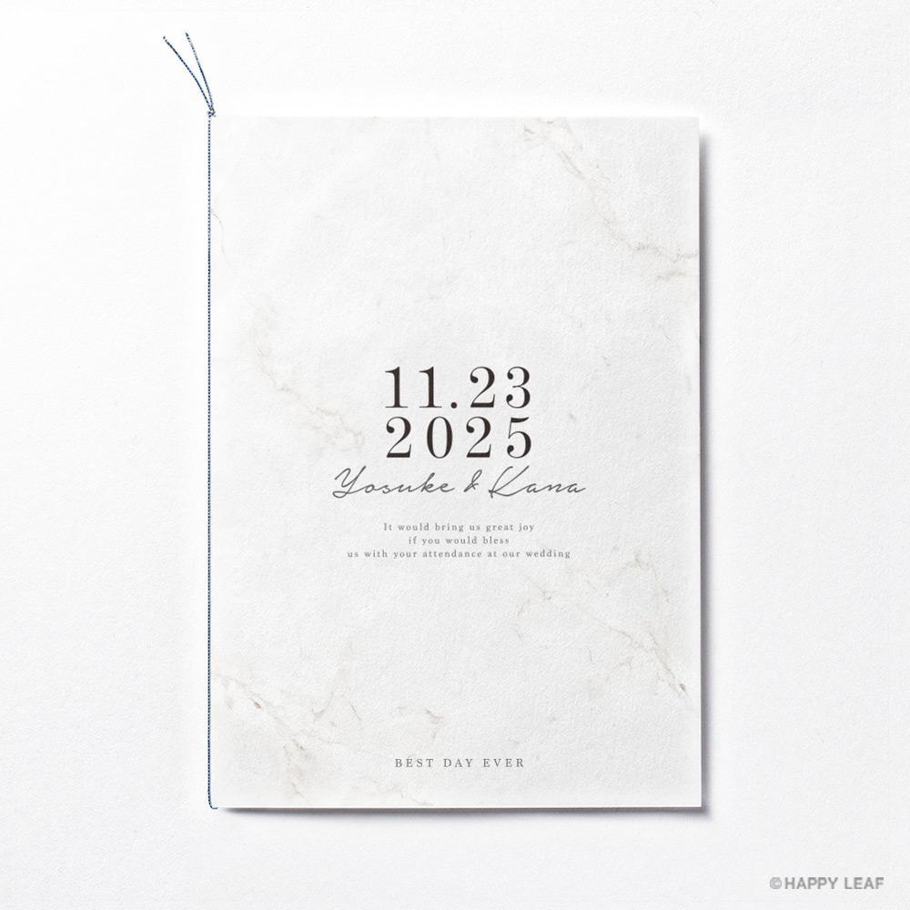 結婚式 招待状 Vows ホワイト 2