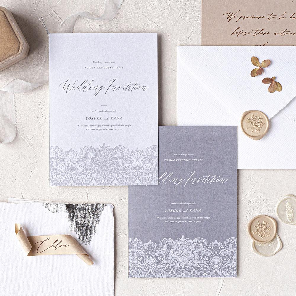 結婚式 招待状 Merletto ホワイト 1