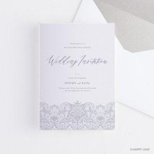 結婚式 招待状 Merletto ホワイト