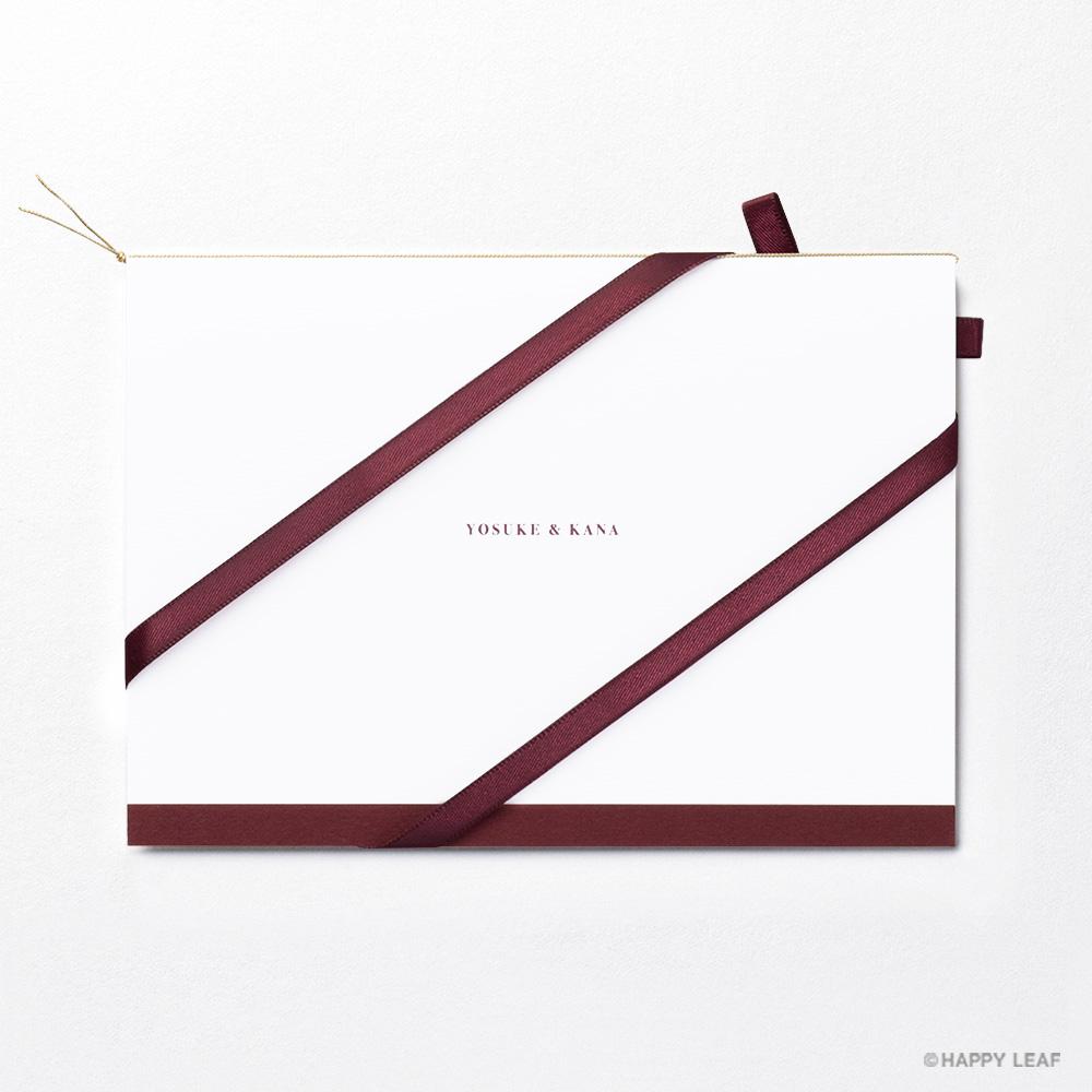 結婚式 招待状 Bell レッド / リボン レッド 4