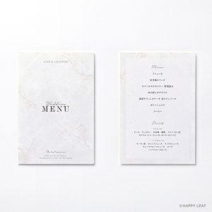 メニュー表 Vows  ホワイト