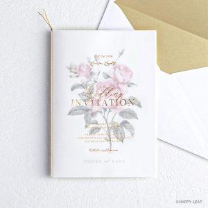 結婚式 招待状 Rose
