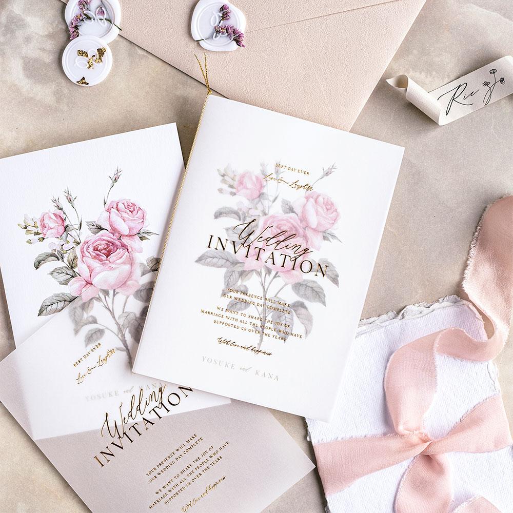 結婚式 招待状 Rose 1