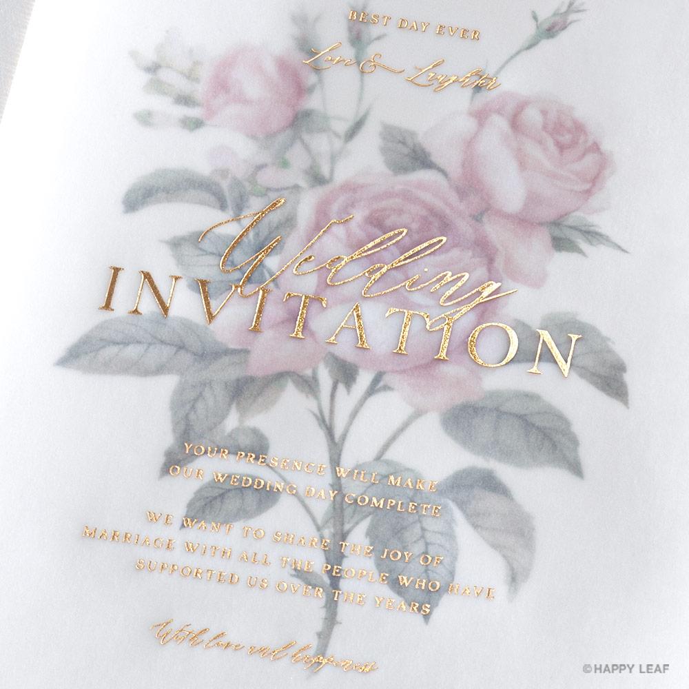 結婚式 招待状 Rose 4