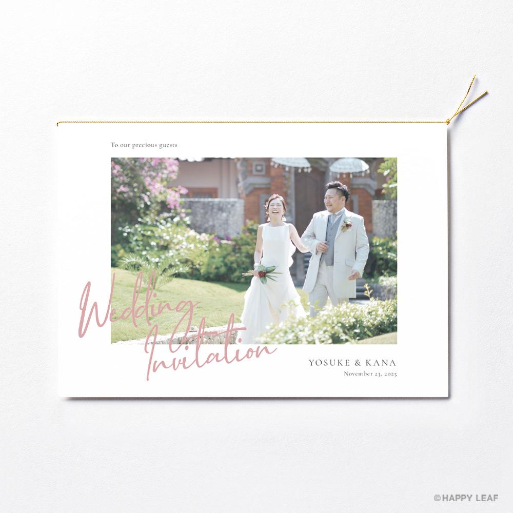 結婚式 招待状 annette カラー 2