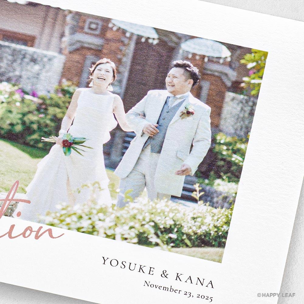結婚式 招待状 annette カラー 3