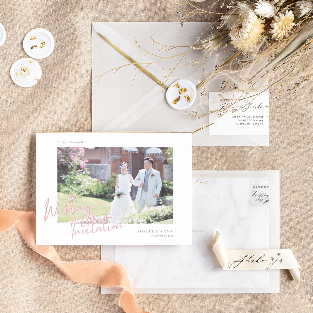 結婚式 招待状 annette カラー 1