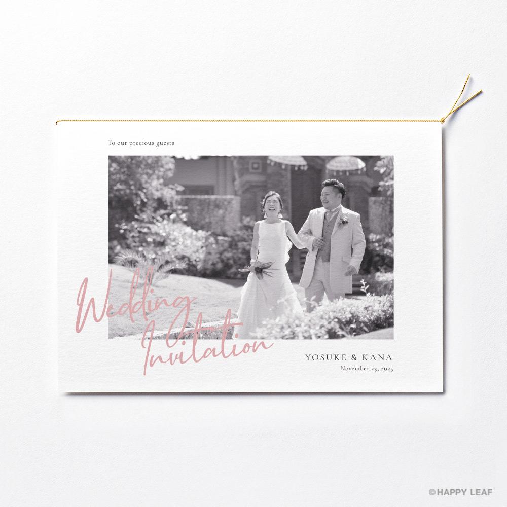 結婚式 招待状 annette モノクロ 2