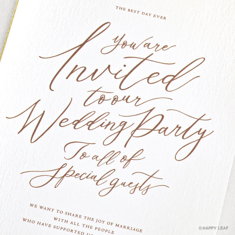 結婚式 招待状 lettre シナモン 3