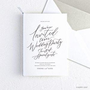 結婚式 招待状 lettre ブラック