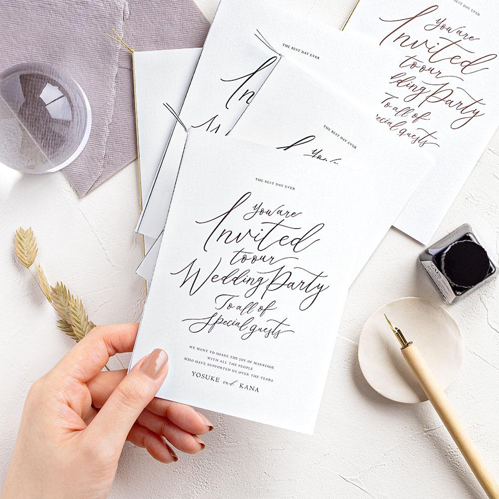 結婚式 招待状 lettre ブラック 1