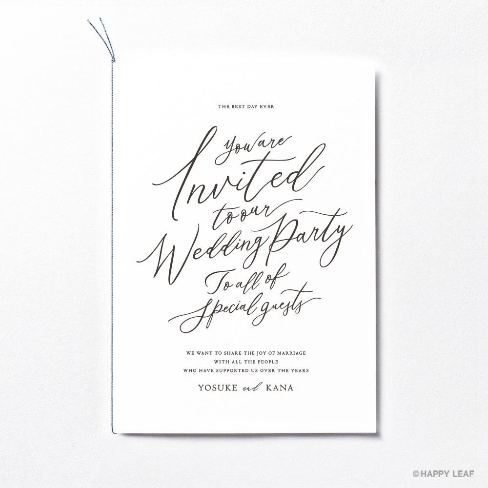 結婚式 招待状 lettre ブラック 2