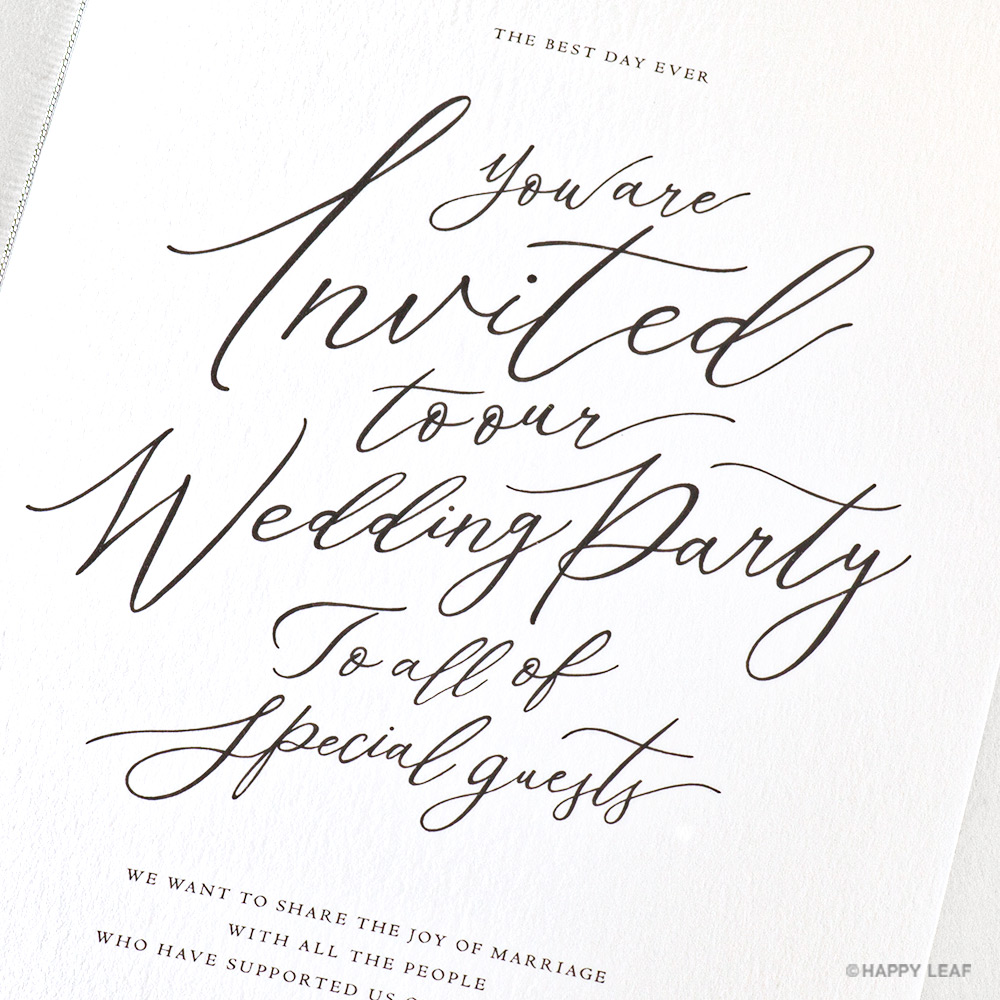 結婚式 招待状 lettre ブラック 3