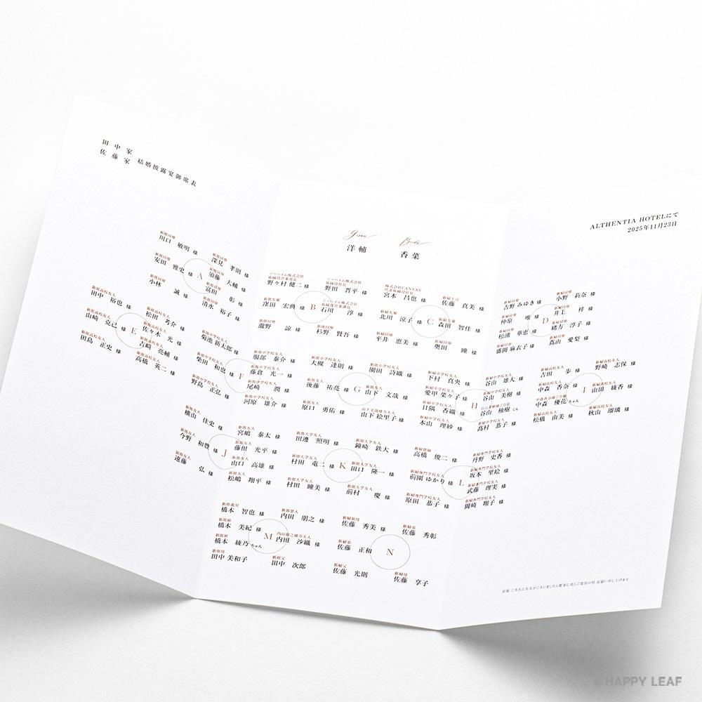 席次表 lettre シナモン 3