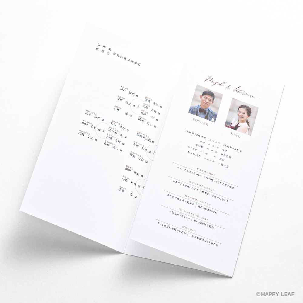席次表 lettre シナモン 6