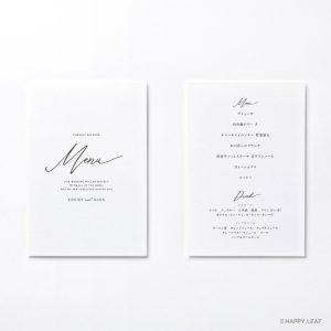 メニュー表 lettre ブラック
